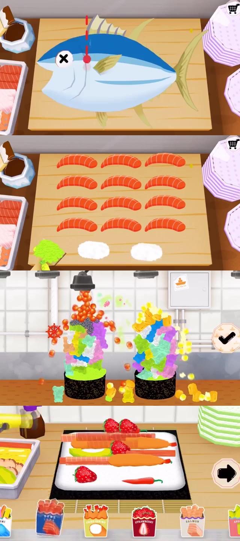 10 เกมทําอาหารเล่นบนมือถือ 8. TO-FU Oh!SUSHI , เกม, เกมส์, เกมทำขนม, เกมส์ทำอาหาร, เกมส์ทำอาหารน่าเล่น, เกมเสิร์ฟอาหาร, เกมปิ้งย่าง, เกมทำไอศครีม, เกมทำแฮมเบอร์เกอร์, เกมทำเครื่องดื่ม